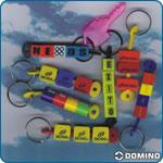 Llavero domino en rubber