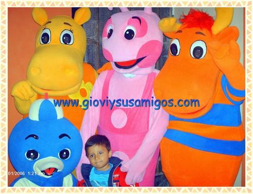 Show Infantil de los Backyardigans solo con Giovi y sus amigos