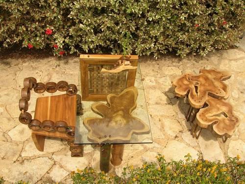 Muebles linea fractal zuarq. Guadua, bambú y diferentes materiales