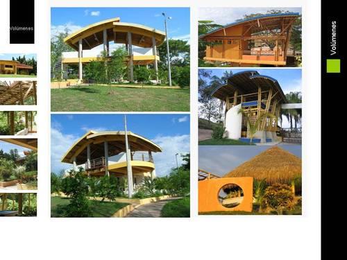 diferentes tipos de construcciones elaboradas con GUADUA - BAMBÚ