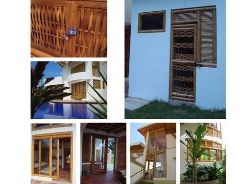 Puertas y accesorios desarrollados con guadua, macana entre otros