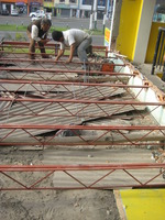ENLARGEMENT PROCESS WITH METAL beams and joists