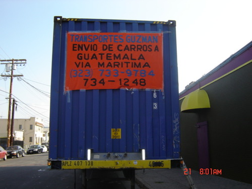 Guzman Transport - Shipping Containers to Guatemala