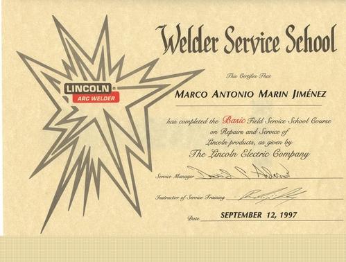 Zulassung ausgestellt: Lincoln Electric COMPANY-USA-1997