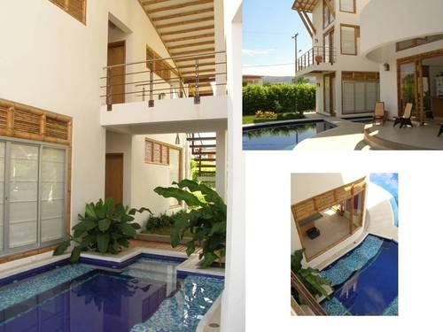 Agua, jardín y construcción