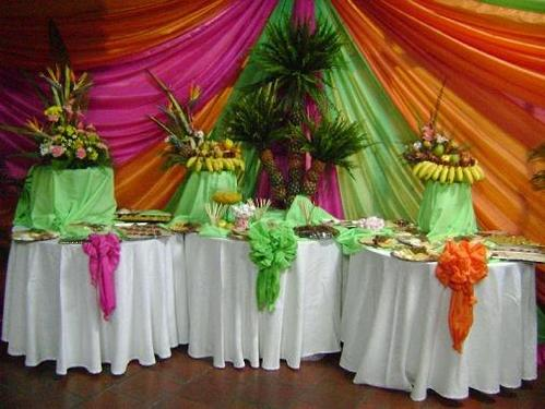 Buffet Hawaiano.