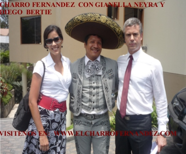 the charro fernandez with Gianella Neyra and diego bertie