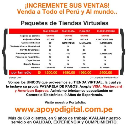 Tiendas Virtuales!