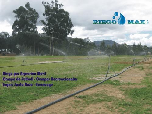 Riego por Aspersion Movil para Campos de Futboll
