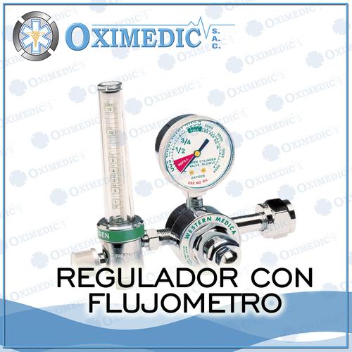 Reguladores de oxigeno medicinal con flujometro