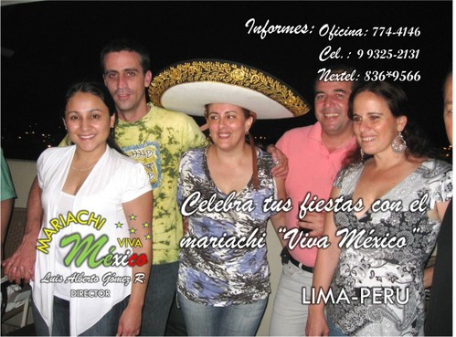 Mariachis Lima Peru Fiestas Servicio A1 Info.: 774-4146 Cel 993252131