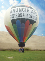 Aerial Advertising in balloons with signs