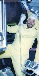 Ensayo de ultrasonido en cañeria de central nuclear