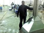 Fabricação e montagem de coberturas de aço inoxidável
