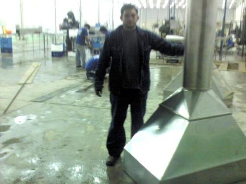 Fabricacion y montaje de Campanas en acero inox
