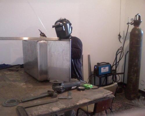 Fabricacion de tinas de pelado de esparragos