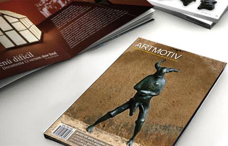 Grafisch ontwerp, kunsttijdschrift Artmotiv