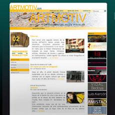 Web design, online Artmotiv, updaten website.
