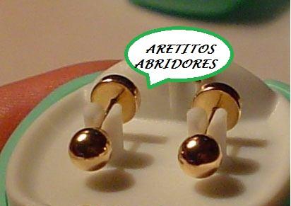 ARETITOS ORO 18K  ABRIDORES
