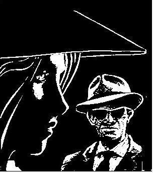 silueta de detectives